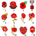 Broches De Strass Enamel Red Poppy Brooches Flower Diamante Crystal Broach Banquet Badge Brooch Breastpin Hijab Pins And Brooch