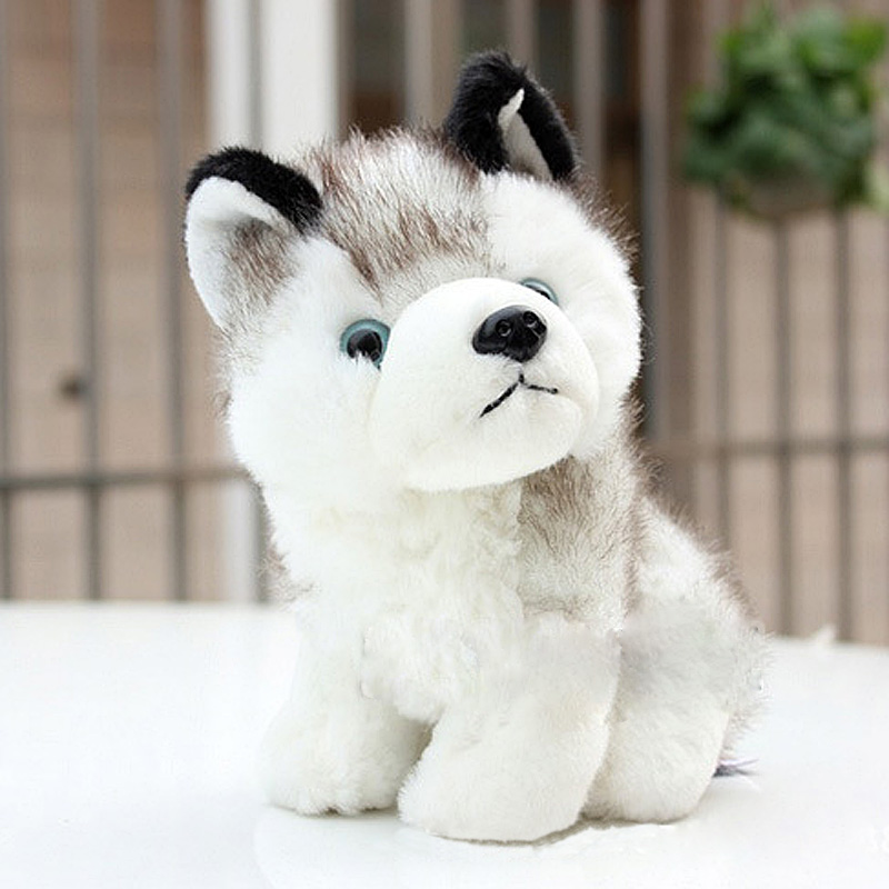 Cute Baby PLush Puppets Siberian Huskie Dolls Puppy Dog Stuffed Doll Stuffed Animals Toys Best Gift For Children Plush Series FL cartoon cute doll cat plush stuffed cat toys 19cm birthday gift cat high 7 5 inches children toys plush dolls gift for girl