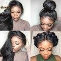 8A Cabelo Humano Full Lace Wigs para As Mulheres Negras Sem Cola Completo Perucas Cheias do laço Brasileiro Cabelo Virgem Laço Frontal Reta Perucas de Cabelo Humano