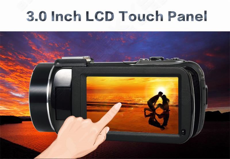 Free shipping!ORDRO HDV-D395 Full HD 1080P 18X 3.0″Touch Screen Digital Video Camera+Battery