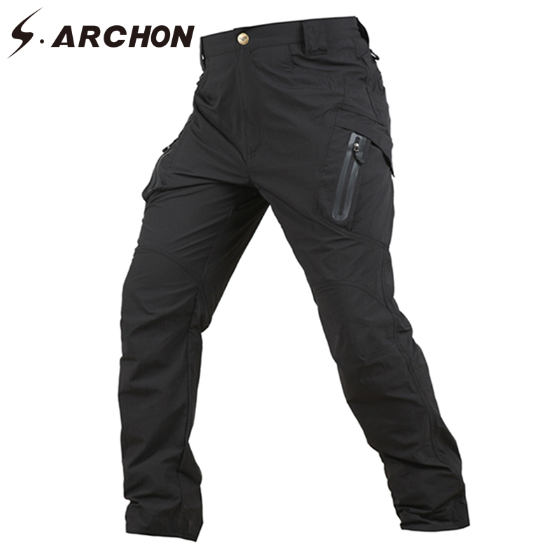 official price diversified latest designs best quality US $30.5 39% OFF|S.ARCHON Summer Qucik Dry Lightweight Tactical Cargo Pants  Men Nylon Breathable Multi Pockets Military Pants Army Combat Trouser-in ...