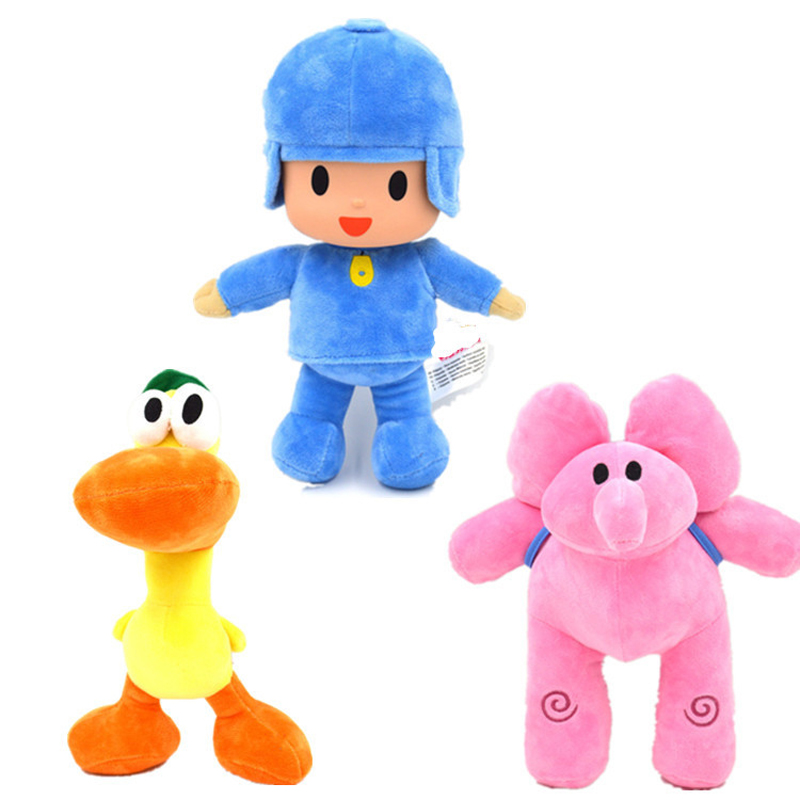 3pcs/lot Pocoyo Friends bandai Plush Toys Doll Pocoyo Elly Pato Plush Stuffed Toys Brinq ...