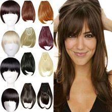 Free Shipping Sexy straight Front Bang Hair Bang Extension Clip In Hair Bang Synthetic Hair Bang Hair Fringe For Women
