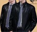 Hot 2014 spring autumn sheepskin leather clothing Men quinquagenarian Leisure leather jacket plus size /  M-3XL / Free shipping