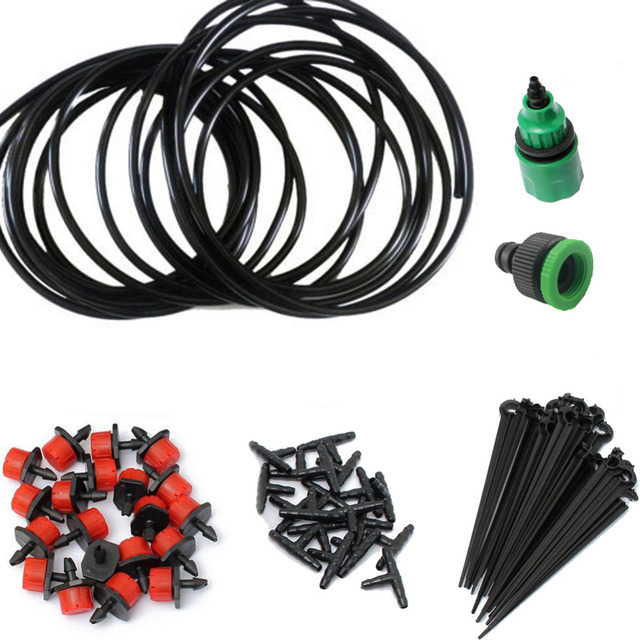 Drip Irrigation System 25M/15M/5M Automatic Micro Garden Dripper Head Connector for Flowerspot Garden Plants Watering Kits