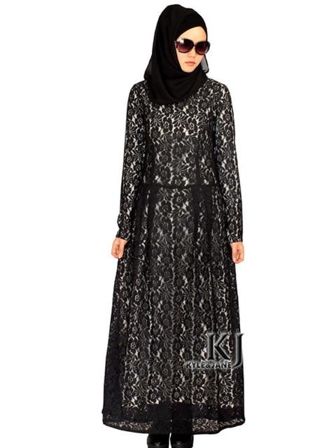 2015 muslim women dress djellaba fashion abaya plus size caftan lace long  dress turkish dubai robe 1ebbfe43b16b