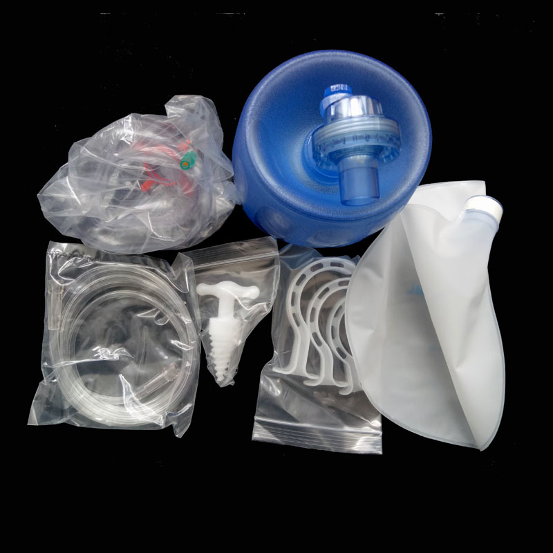 PVC Disposable Manual Resuscitator with Oxygen Tubing Reservoir Bag Face mask Case For Adult or Pediatric the new household skin mask is used to mask the oxygen machine s health oxygen machine tube face mask