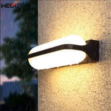 (WECUS) LED Wall Light Outdoor Waterproof Porch Garden Wall Lamp Home Sconce Indoor Decoration Lighting Lamp Aluminum AC85-265V indoor led wall lamp ac 85 265v 9w triangle garden lights ip54 waterproof outdoor balcony aisle night light for home decoration
