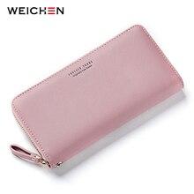 Фотография WEICHEN Wristband Women Long Clutch Wallet Large Capacity Wallets Female Purse Lady Purses Phone Pocket Card Holder Carteras