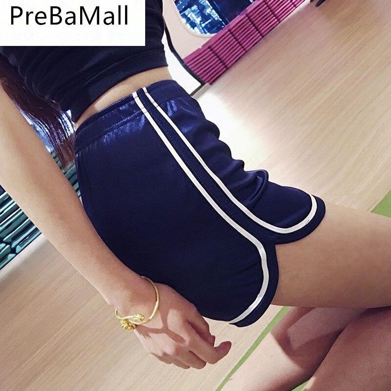 New 2019 Fashion Women Shorts Summer Polyester Silk Slim Beach Casual Egde Shorts Hot High Waist Workout Trousers C104