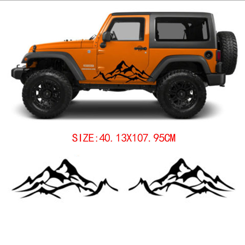 Automobiles & Motorcycles Exterior Accessories Ingenious Automobile 2x For Mountain Decal Tree Forest Graphic Door Or Body Panel Custom Vinyl Car Sticker Camp Car Styling