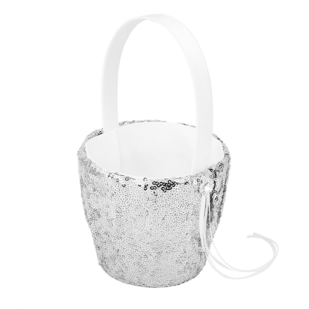 Online get cheap girls gift baskets aliexpress alibaba group vintage wedding flower girl basket with sequins ri dhlflorist Image collections