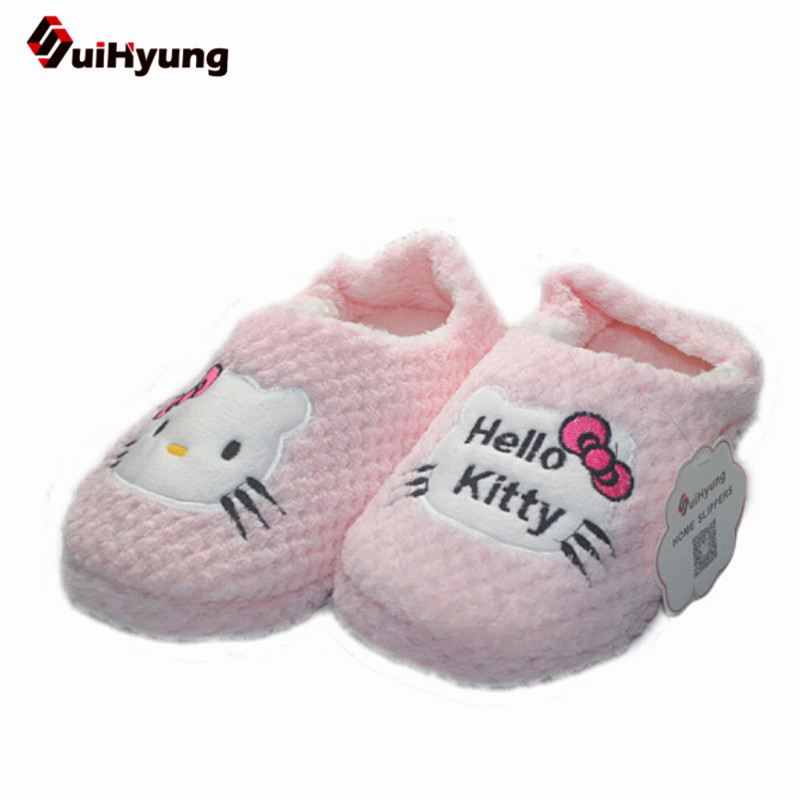 Suihyung Women Winter At Home Slippers Warm House Indoor Shoes soft bottom Kiity Slippers Female Bedroom Non-slip Floor Shoes dcore ft athletic shorts