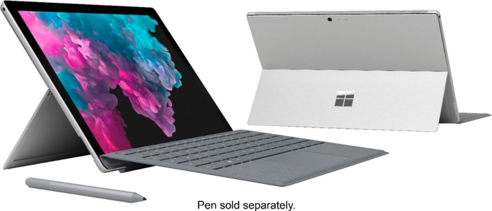 Nouveau Microsoft Surface Pro 6 Convertible ordinateur Portable Windows 10 Intl 8th Core I5 I7 Super Portable pour bureau support Surface stylo