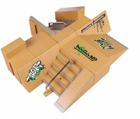 8pcs/1Set Skate Park Kit Ramp Parts for Fingerboard Mini Finger Skateboard