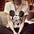 Mujeres Mickey Imprimir T Shirt Verano de Super Kawaii Cartoon Imprimir lindo camisetas de manga corta camisa de la tapa harajuku mujeres clothing lh48 Z15