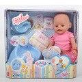Bebé nacido renacer muñeca de juguete de felpa toys para niños de simulación bebé bdj Muñeca de Papel Bebé Juego de Bebé Nacido Accesorios Niñas regalo