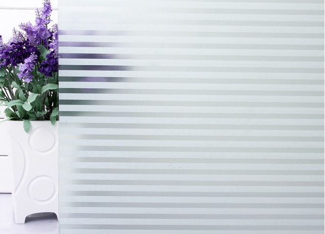 60*100cm top grade selfadhesive decorative frosted privacy window film for bathroom kitchen office  windows stripe