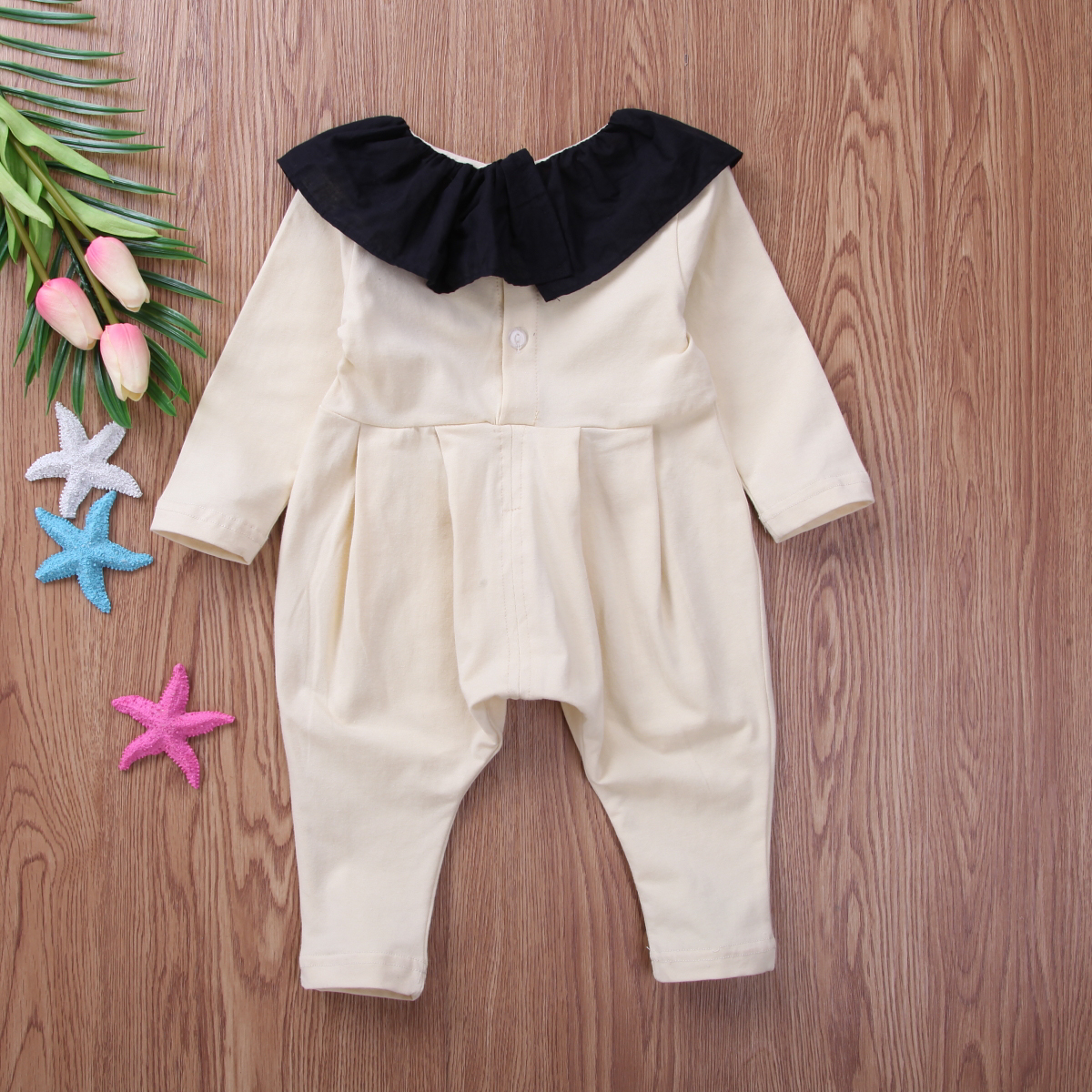 b30764499 Super Cute Newborn Baby Girl Ruffle Long Sleeve Romper Playsuit Babies Solid  Harem Clothes -in Rompers from Mother & Kids on Aliexpress.com | Alibaba  Group