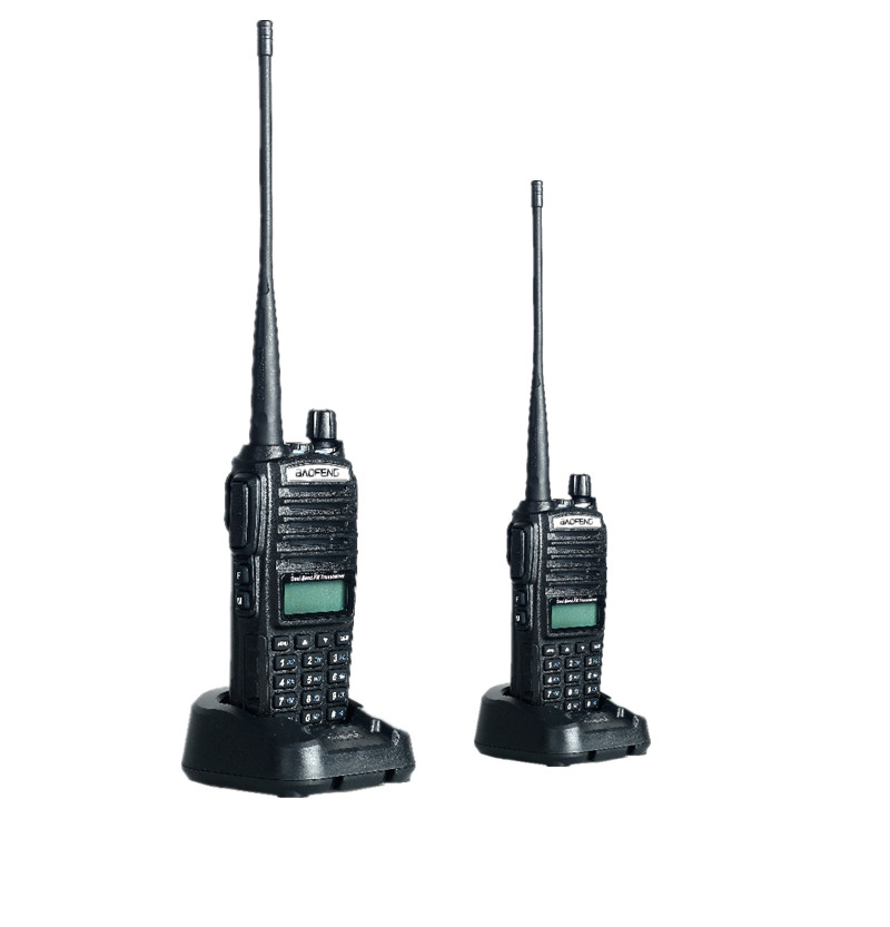 2 PCS Baofeng UV 82 Walkie Talkie Dual Band Two Way Radios Double PTT Pofung handle