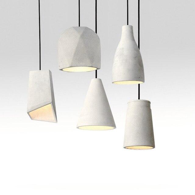 Lámpara colgante moderno cemento Vintage luces de iluminación para ...