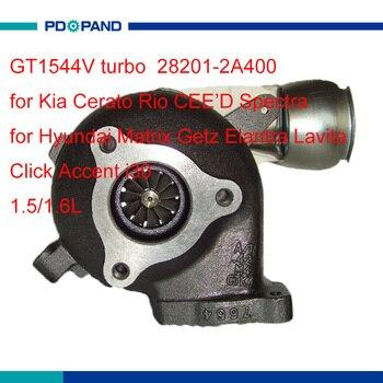 Kit de turbocompresseur automatique GT1544V 782403 pour Hyundai Elantra cliquez sur l'accent i30 Kia Cerato Rio Spectra D4FA D4FB moteur 28201-2A400