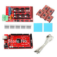 Geeetech RAMPS1.4 Shield, Iduino Mega2560 R3 with Pololu stepper motor driver A4988 with heatsink for Prusa Mendel 3D Printer