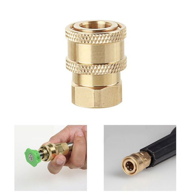 New High pressure water gun head live connection quick insertion 1/4 joint cleaning machine gun head M14 threaded socket 12mm