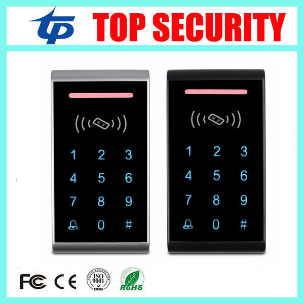 Single door access control card reader 125KHZ RFID card smart card access controller touch keypad em card access control panel good quality smart rfid card door access control reader touch waterproof keypad 125khz id card single door access controller