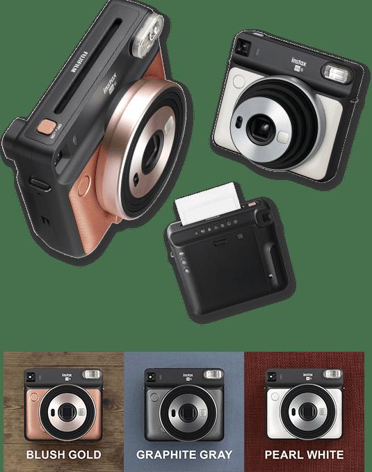 3 farben Fujifilm Instax PLATZ SQ6 Instant Film Foto Kamera + 20 Blätter Platz Film Pack instant kamera instax mini film