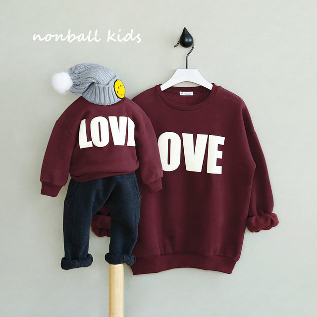 2 pieces/lot family matching clothes In Stock spring autumn winter family clothing mother and daughter clothes sweatershirts