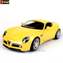 Bburago 1:18 Alpha 8C Competizione Alloy Retro Car Model Classic Car Model Car Decoration Collection gift недорого