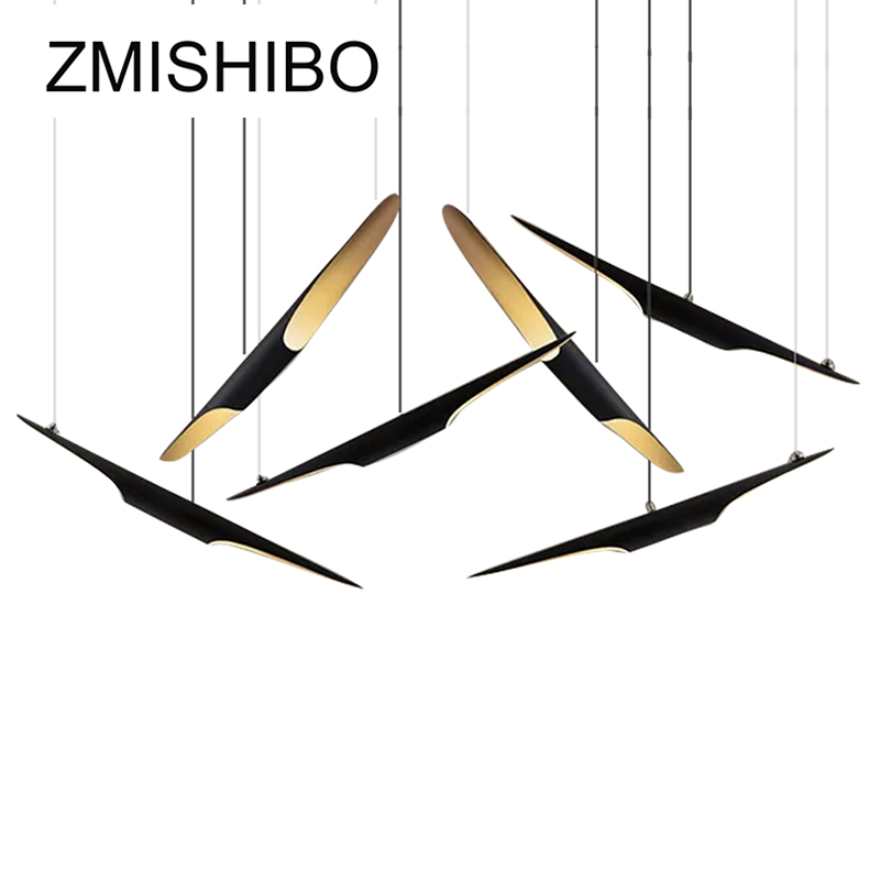 ZMISHIBO Creative Modern Style Pendant Lights Black Bamboo Tube Shape Iron Pendant Lamps Decoration Luminary For Living Room