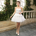 Elegant Short Party Dress 2017 Ball Gown Sweetheart Crystal Cocktail Dress Lace Up