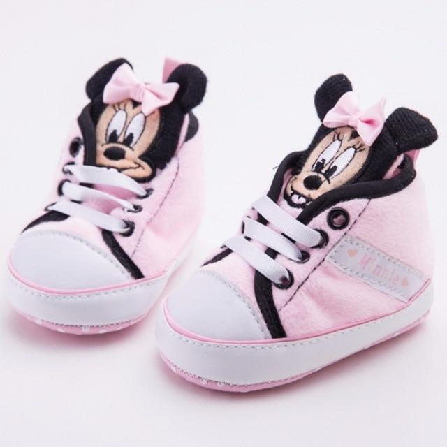 82140a0a5521a Nouvelle marque fille bébé chaussures premiers marcheurs mignon Minnie  nouveau-né princesse enfants baskets à