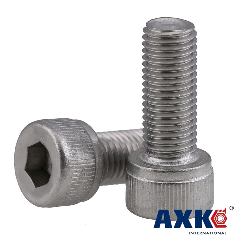 M8 x 80mm A2 Stainless Steel Hexagon Hex Head Bolts Coarse Thread Pack of 4