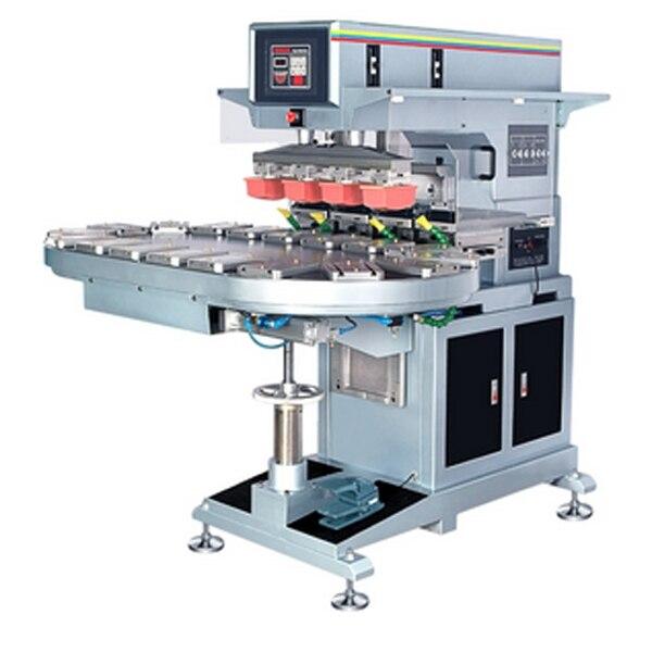 4 Color Conveyor Pad Printer Four Color Pad Printer Four Color Pad Printer Machine With Shuttle