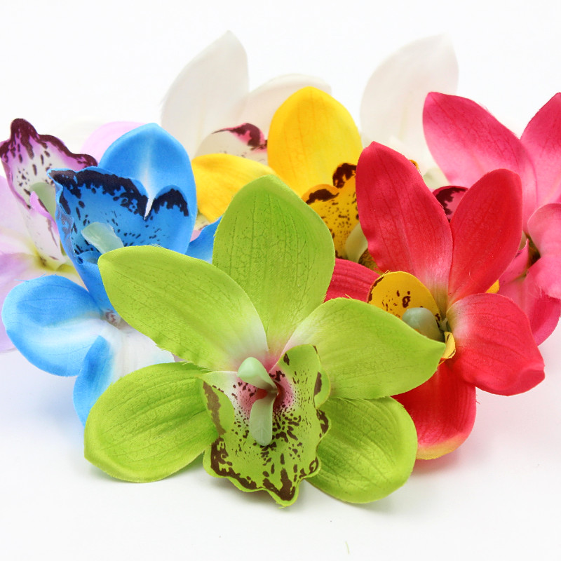1 шт./лот Искусственный шелк цветок розы венок Гвоздика тюльпан цветок лилии одежда Свадебная шляпа DIY украшения цветок
