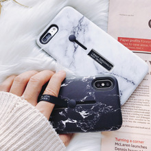 Marble Silicon Ring Phone Case For iPhone 6 6s 7/8 PLUS For iphone x Case