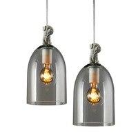 Винтаж промышленный подвесной светильник щенок дизайнер Стекло лампа Тенты E27 держатель подвесной светильник Лофт бар Кофе приспособление