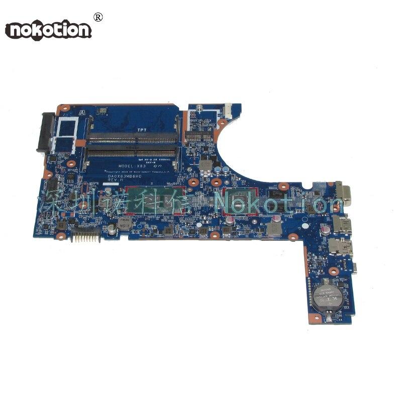 NOKOTION 907715 601 907715 001 DA0X83MB6H0 For HP 450 G4 Laptop motherboard SR2ZV I7 7500U Geforce 930MX GMA HD 620