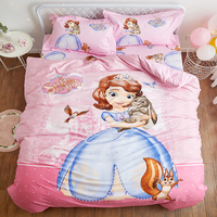 disney comforter bedding set beauty and the sofia princess cotton bed sheet single twin full quen king size 3d duvet cover girl