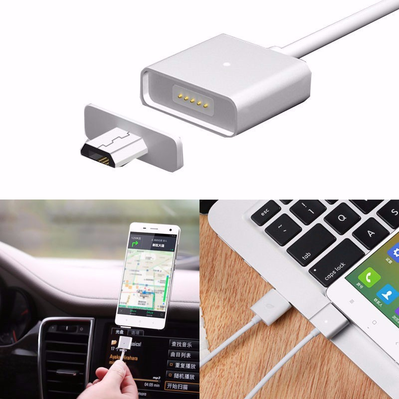 2.4A Moizen Android Micro USB Charging Cable Magnetic Adapter Charger For Samsung Huawei HTC Sony LG With Micro USB Port P18 0.4