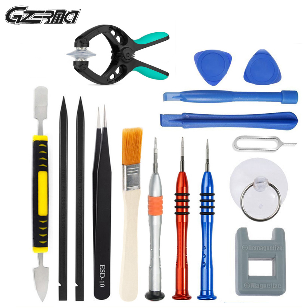 16 In 1 Mobile Phone Repair Tools Kits Pry Opening Disassembly Screwdriver Set For IPad For IPhone X 8 7 Smartphone
