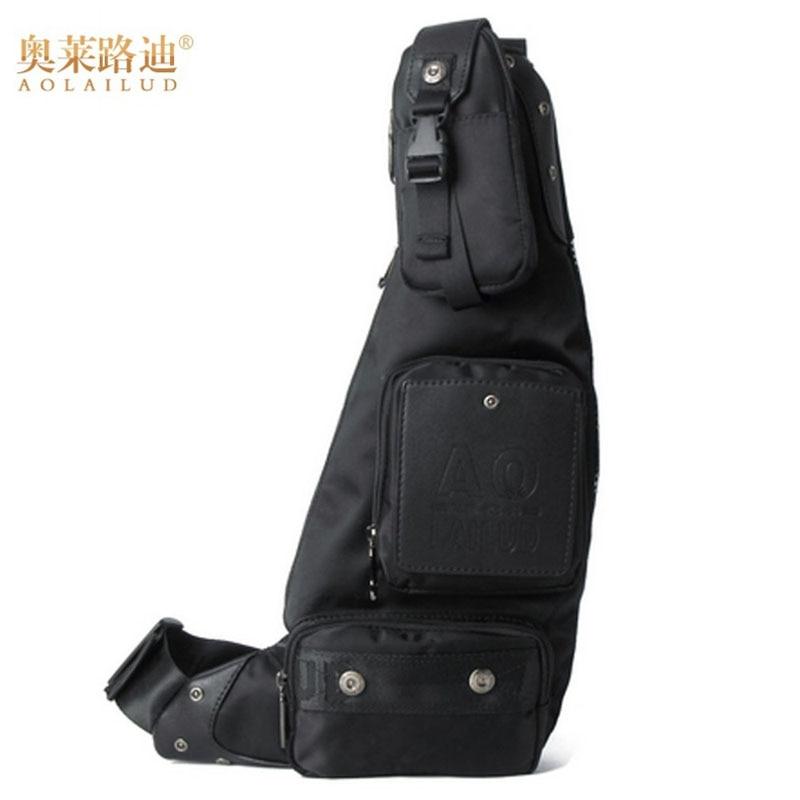 Luggage & Bags Waterproof Mens Nylon Sling Backpack Rucksack Half Moon Pattern Shoulder Bags Fashion Black High Quality Cross Body Chest Bag