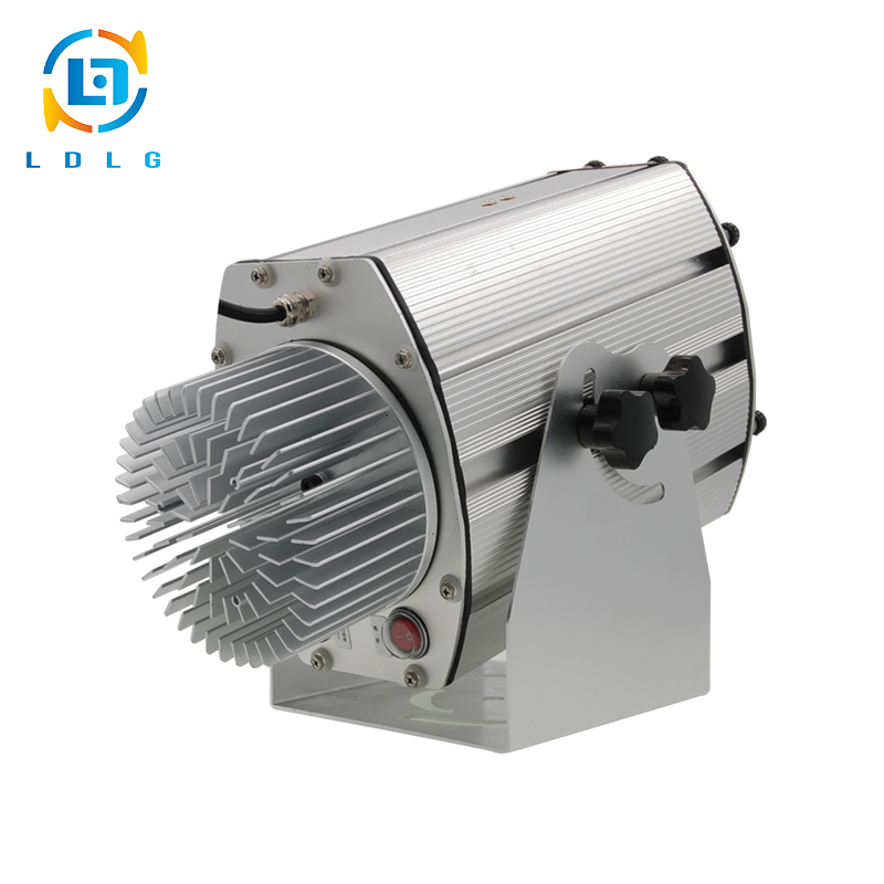 OUTDOOR Silver Outdoor 80W 8 Images Change in Turn LED Gobo Sign Projector 10000Lumens Outdoor LED Custom Image Logo Projectors