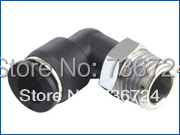"""PL 3/8-N02  tube 3/8-1/4"""" NPT thread High quanlity plastic quick connect pvc pipe fitting elbow connector"""