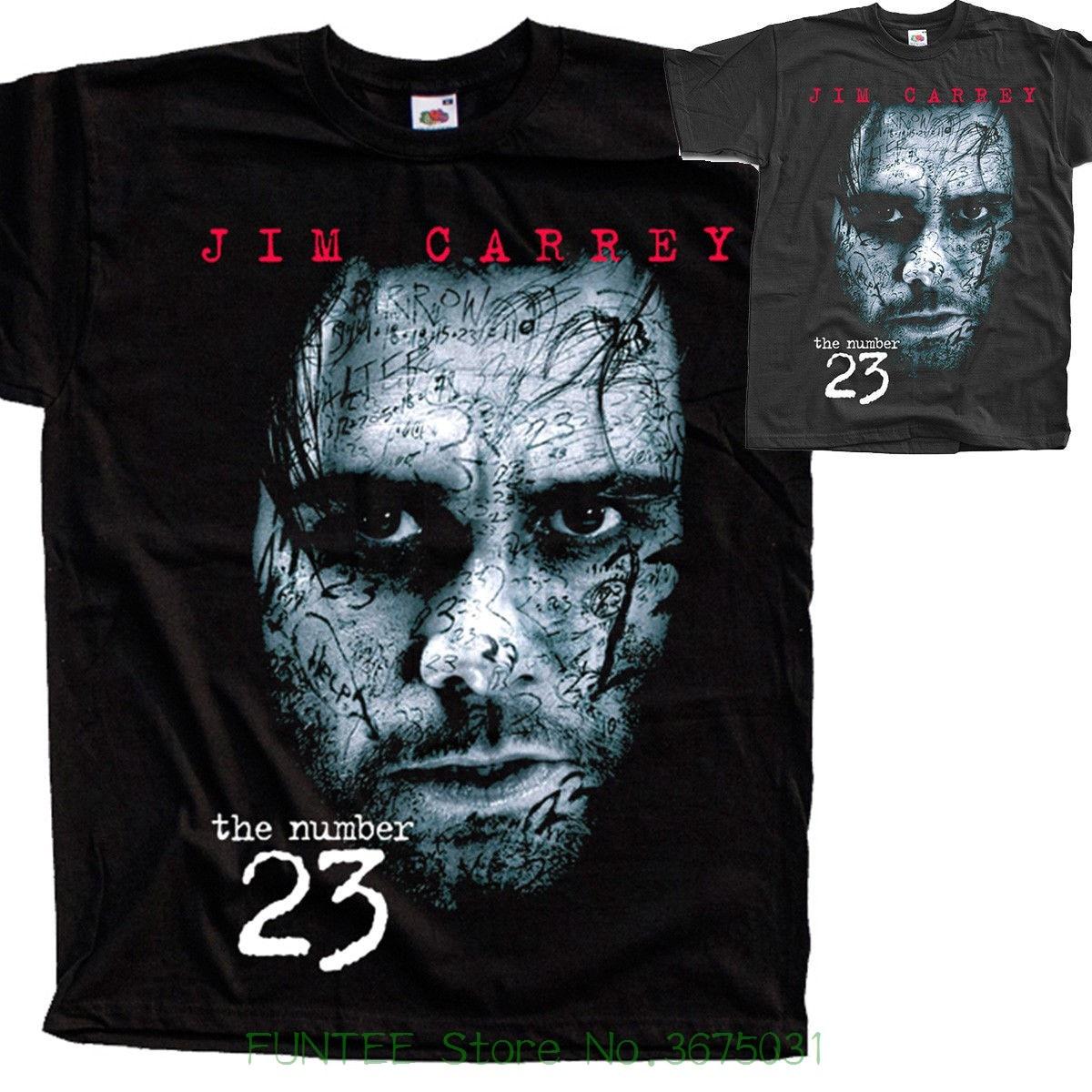 dbae4b8b6 New Man Design T-shirt Print Number 23 V1 , Movie Poster , T Shirt Black  Graphite All Sizes S To 5xl Jim Carrey
