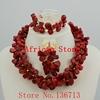 Gorgeous afryki Coral koraliki zestaw biżuterii ślubnej koraliki afryki zestaw biżuterii na ślub darmowa wysyłka HD324-2
