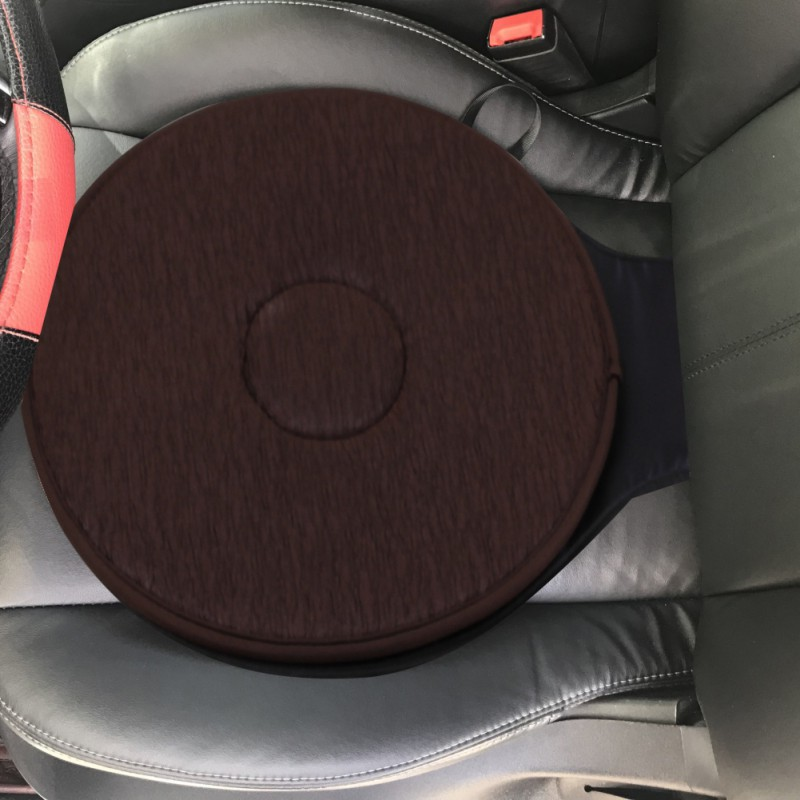 Swivel Car Seat >> Us 9 57 Cushion Coffee Car Seat Foam Mobility Aid Chair Seat Revolving Rotating Cushion Swivel Car Memory Foam Seat Mat Car Accessories In Cushion